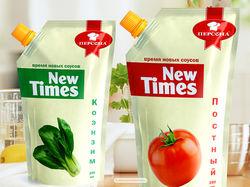 Дизайн логотипа, упаковки соусов New Times