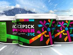 Дизайн этикетки антигололедных реагентов icepick