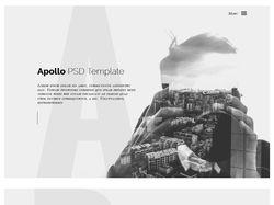 Верстка поэкранного-адаптивного сайта Apollo
