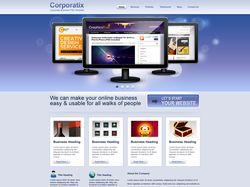 """Вёрстка сайта""""Corporatix"""""""