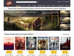 Редизайн игрового сайта