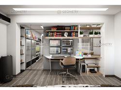 Дизайн Гостиной. Рабочая зона.