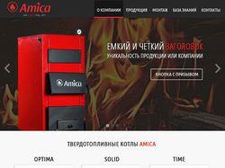 "Дизайн корпоративного сайта ""Amica"""