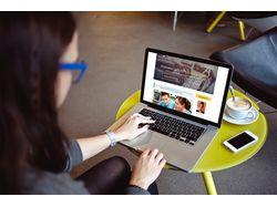 Дизайн для блога подготовки студентов
