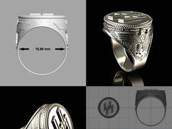 Ring Waffen SS /Перстень, модель для 3d принтера