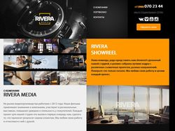 Сайт-визитка для видео оператора.