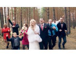 съемка и монтаж свадебного клипа