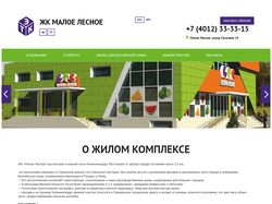 Верстка и интеграция в CMS WP (M-lesnoe.ru)