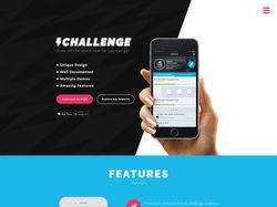 Дизайн промо сайта мобильного приложения