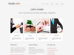Пример верстки бизнес-сайта