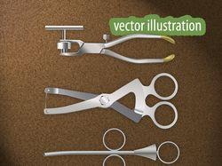 Отрисовка стоматологических инструментов в векторе
