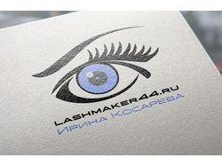 Логотип для сайта наращивание ресниц в Костроме