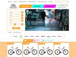 Магазин велотоваров. Моб, планшет и десктоп версии