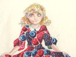 Ягодное платье