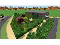 Проект территории частного дома