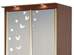 Рисунок на зеркале для шкафов-купе