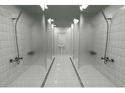 Общественный душ в бассейне