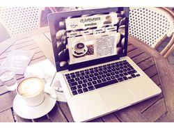 Сайт-визитка кофейни
