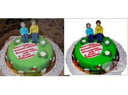 Торт на День рождения мамы и бабушки