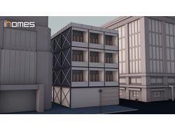 Анимация модульных апартаментов.