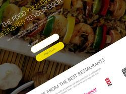 Дизайн главной для сервиса доставки еды (США)