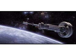 Концепт космического корабля, иллюстрация