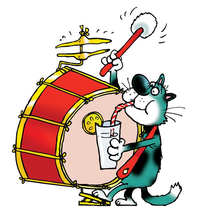 Открытка барабанщик