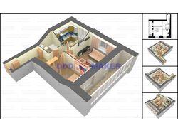 3d-планировка квартиры