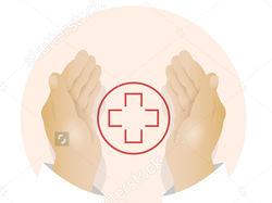 Векторная иллюстрация набор медицинских иконки с р