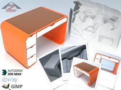 Рабочий стол (модель по скетчу+изображение-буклет)