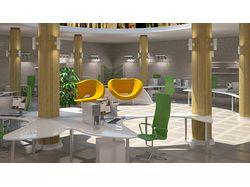 3D визуализация офисного интерьера