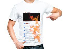 Принт на футболку для видеоблогера