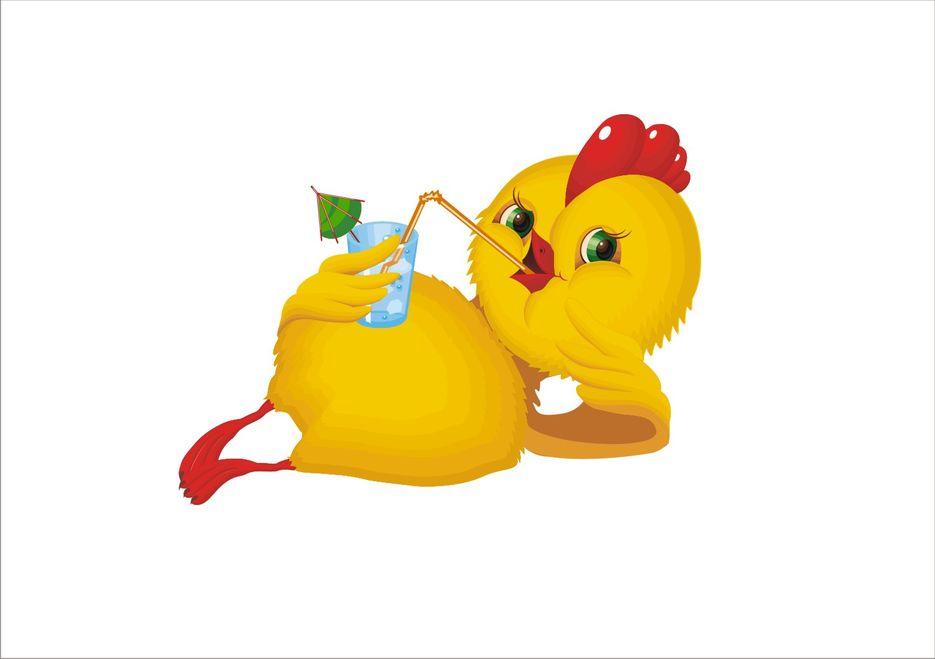 рисунки прикольного цыпленка лампами могут
