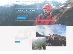 Mountains Landing Page