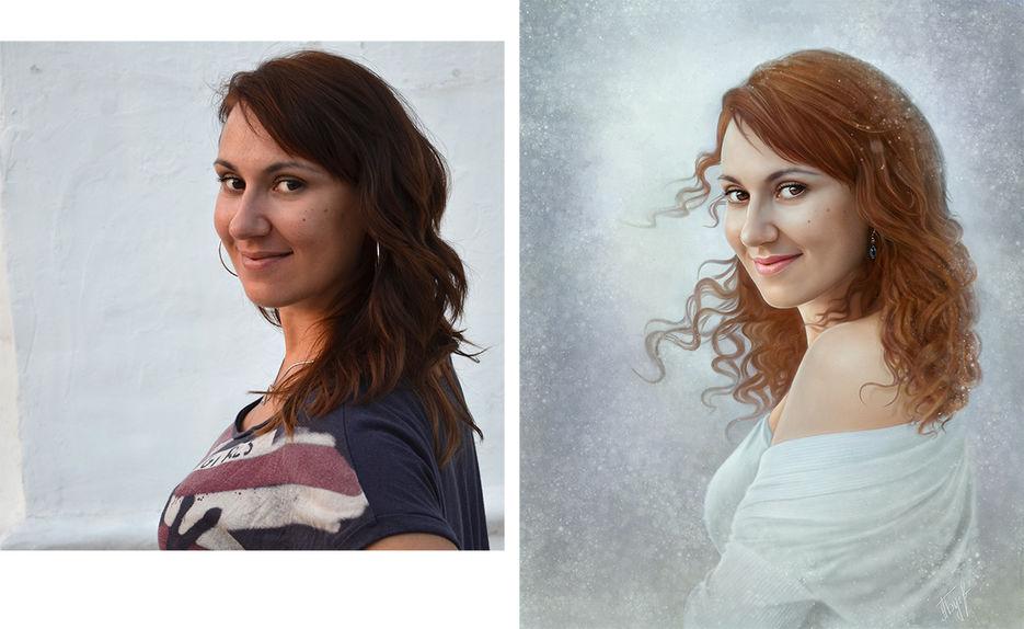 Как сделать свой портрет по фотошопу