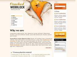 "Вёрстка сайта ""Cracked WEBBLOCK"""
