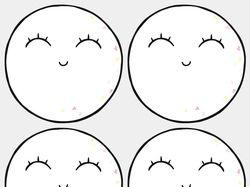 "Наклейки ""MOON-GIRL SMILE"""