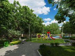 Экстерьер парка в поселке
