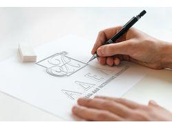 Эскиз логотипа для мебельной компании «Адели»