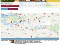 Модуль карты агротоваров для сайта Агрокурьер.рф