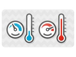 Speedometer and thermometer