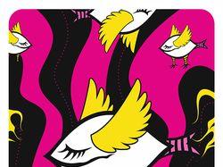 Cartoon psychedelic creatures