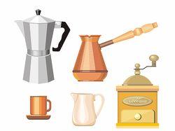 Kitchen utensils objects set