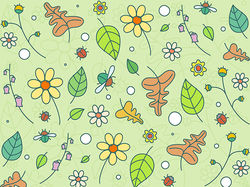 Floral seamless colored background patterns