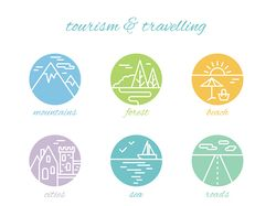 Tourism & travelling icons