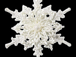 Вырезка снежинки с белого фона и переделка в .png