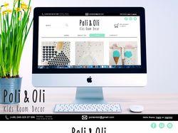 "Дизайн сайта для ""Poli and Oli"" (СТРАНИЦА ""SHOP"")"