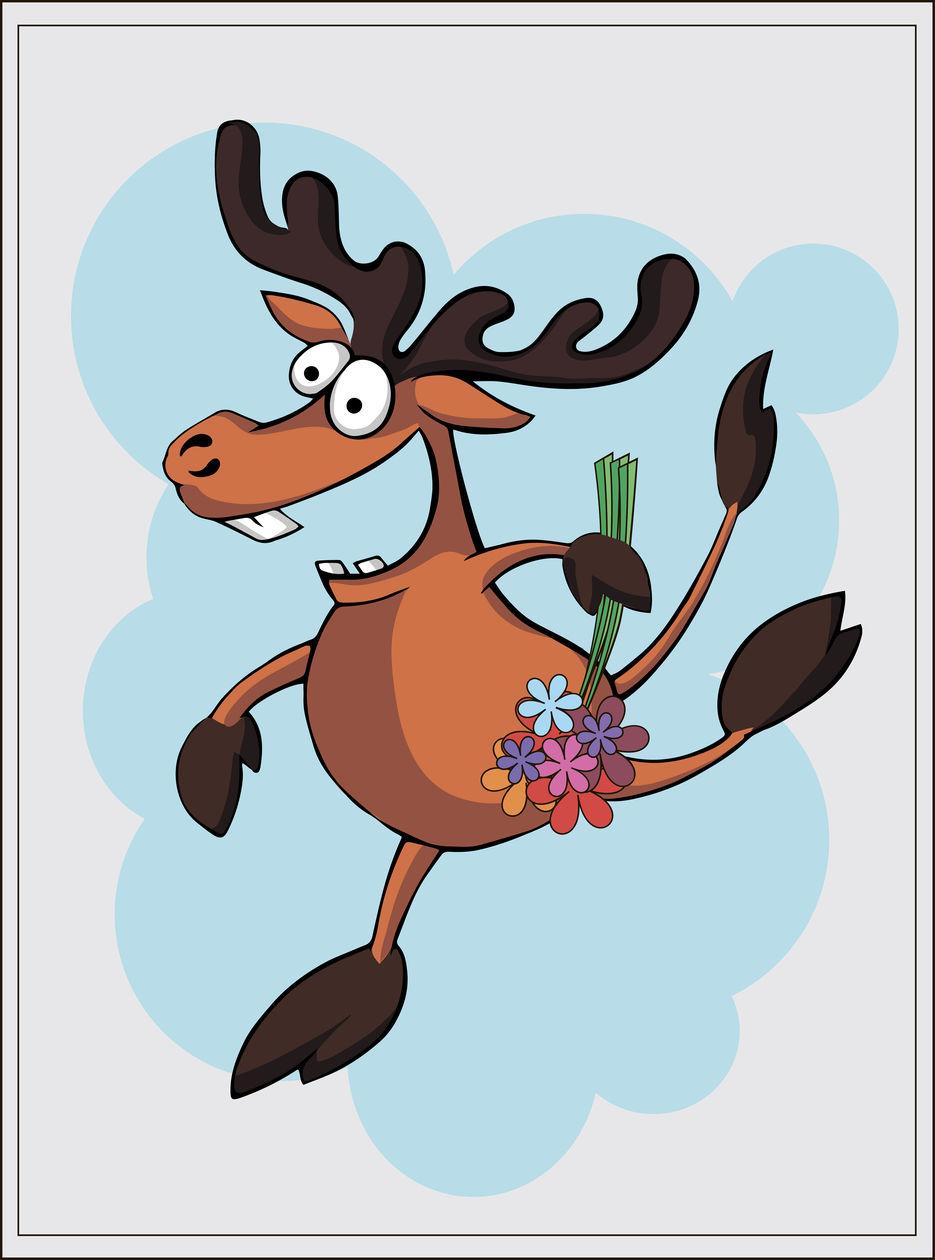 Для мальчиков, рисунок прикольного оленя