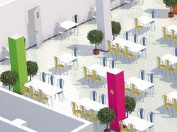 3D визуализация макета помещения