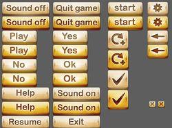 Нарезка кнопок для игры SpellBound